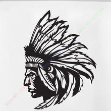 Redskin Native American Indian Chief Wall Decal Sticker Decor Wall Art Vinyl Home decor wall stickers size 56x80cm