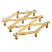 Solid Wooden Hanger Expandable Wooden Coat Rack Hat Hook Expanding Fold NEW. Wholesale(China)