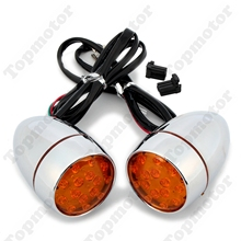 Chrome Bullet LED Motorcycle Parts Turn Signal Motorcycle Light For Harley Sportster Dyna Softail Road King XL