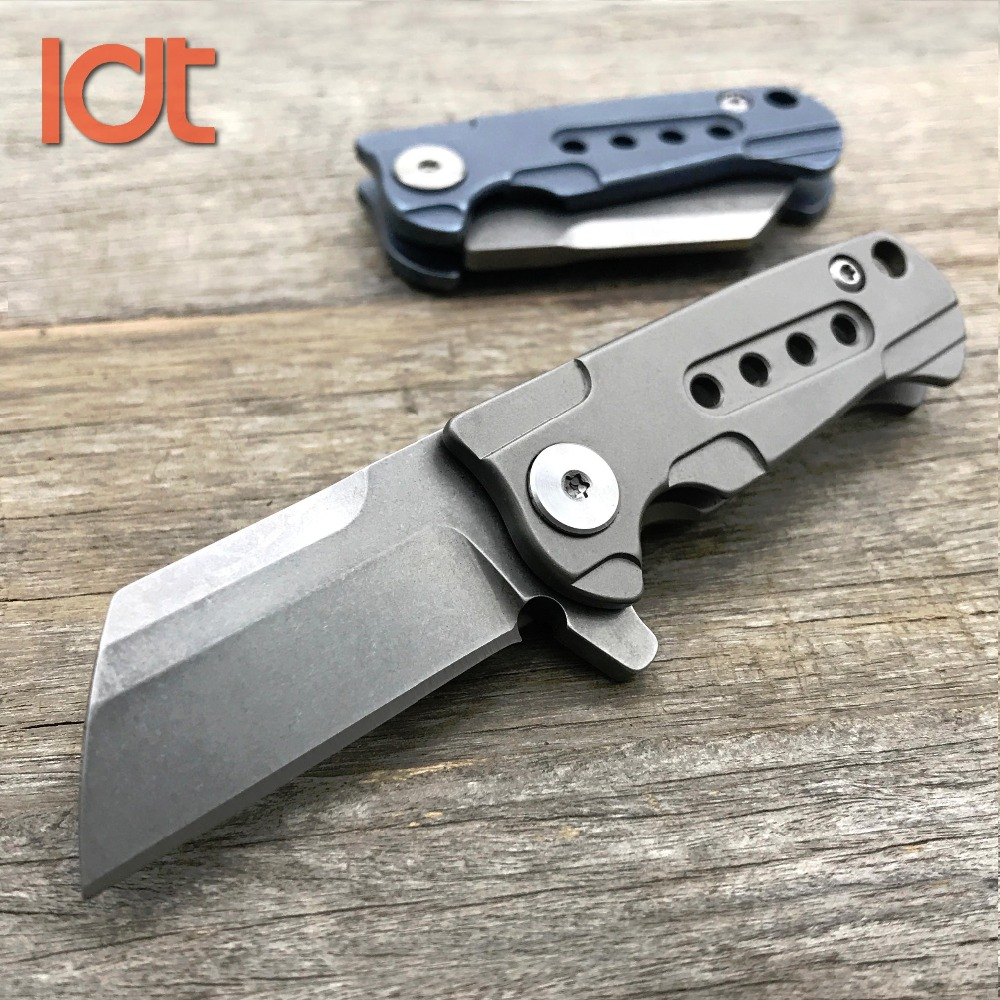 LDT Mini Folding Blade Knives S35VN Blade Titanium Handle Flipper Tactical Knife Hunting Camping Survival Pocket Knife Tools EDC<br>
