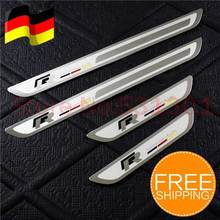 Stainless Door Sill Scuff Plate For Volkswagen VW Jetta MK6 Golf 6 7 MK7 GTI 2009 2010-2016 accessories car-styling