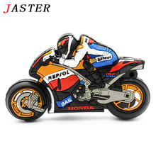 JASTER cool motorcycle pendrive pen drive 4GB 8GB 16GB 32GB creative gift usb flash drive motorbike memory Stick cartoon