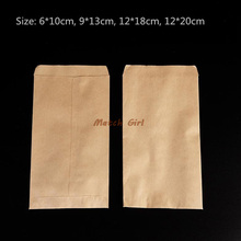 100pcs/lot-6*10cm  Blank High Quality Kraft Paper Bag Seeds Storage Bags Handmade Soap Sample Gift bags  4 sizes options
