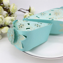 50pcs wedding Candy Box Wedding Decoration Chocolate Box birthday Gift Box baby shower party decoration paper craft hollow(China)