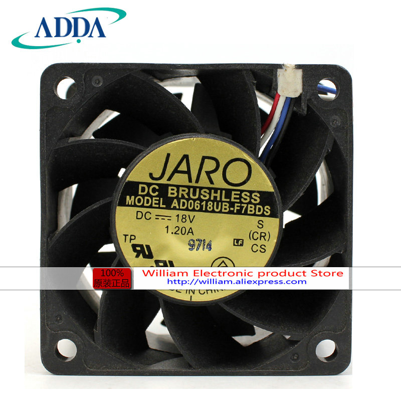 New Original ADDA AD0618UB-F7BDS 18V 1.2A 60*60*38MM 6CM 4 Wires PWM cooling fan<br>