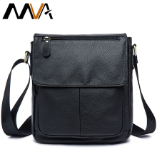 MVA Men's Leather bag Genuine Leather men Bag male Shoulder Crossbody Bags Casual Handbags Small Flap Men Messenger Bags 819(China)