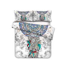 FANAIJIA 3d Dreamcatcher bedding set Quilt Cover and Pillowcases Bed Sets comforter bedding sets queen size(China)