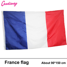 3ftx5ft France Flag 150x90cm custom flag banner national flags Super-Poly hanging Indoor/Outdoor French FLAG Country Banner(China)
