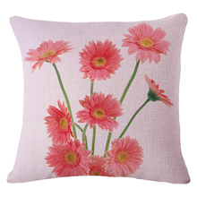 Practical Boutique 18 Inch Sweet Home Decorative Textile Pillow Cushion Case Cover Tiny Pink Daisy Pattern