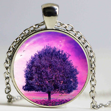 hot sale white tree pink necklace tree of life jewelry pendant necklace best friends bijoux women vintage jewellery wholesale