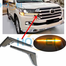 2PCS Yellow LED Turn Signal Flash Light Kit For Toyota Land Cruiser LC200 2016 2017 Facelift Accessories