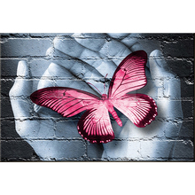 "Fashion 30*40 5D DIY Diamond Embroidered Acupuncture Cross Stitch "" butterfly "" Diamond Art Wall Photo Christmas Decorative Gift"