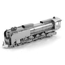 Steam Locomotive Fun 3d Metal Diy Steel Scale Miniature Model Adults Hobby Kids Puzzle Toys Jigsaw Kits Hot