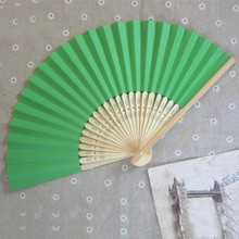 Hot Sales Retail Wholesale New Mixed Pastel Rainbow Paper Fan Birthday Wedding Party Favors Folding Fan(China)