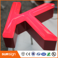 Popular design outdoor RGB frontlit letters and signs(China)