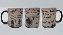 mugs Marauder's Map mugs heat changing color owl mug Tea art cold hot heat sensitive mug transforming magic