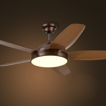Industrial ceiling fan lamp American  color dimmin fan light  simple wooded indoor lighting 110V/220V