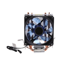2 Heatpipe 95W CPU Cooler 3-Pin 90mm LED Fan Aluminum Heatsink For i3 i5 AM2 AM3 - L059 New hot