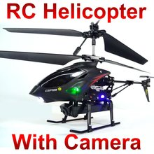 WL S977 3.5 CH Radio iphone remote Control Metal Gyro rc Helicopter  With Camera quadcopter FSWB