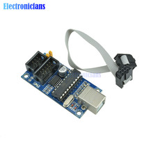 1Set USBTiny USBtinyISP AVR ISP Programmer Bootloader For Arduino Meag2560 UNO R3 With 10pin Programming Cable