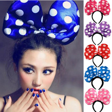 Halloween Costumes Children Dress up Supplies Party Mickey Men and Women Glow Color Headdress Headband Bows(China)