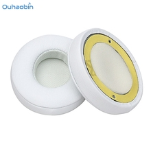 Ouhaobin Popular 1 Pair Protein Leather Ear Pads Replacement for Monster Beats SOLO 2.0 White High Quality EarPads Sep4(China)