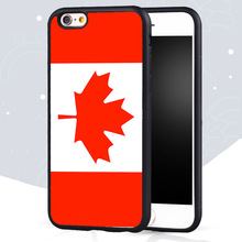 Flag Canada Printed Soft TPU Phone Cover Case for Iphone 4 4S 5 5S SE 5C 6 6S Plus 7 Plus