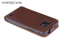 TUKE NEW! Fashion Hot Selling Style Genuine Leather Case Cover Holster For Samsung Galaxy S2 i9100 SJ0807(China)