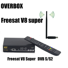 Free USBWIFI overbox Freesat V8 Super 3G IPTV Cccam powervu digital Satellite tv receiver DVB-S2 1080p hd support newcamd scart(China)