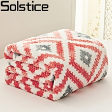 Solstlce Brand Bedding Wool Blanket, Rhombus Woven Quilt, Sofa Bed Square Blankets, Scarf Shawl Multipurpose Throw Blanket