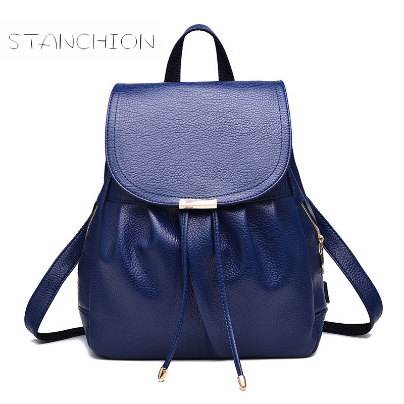 Backpack Faux Leather Women Daily Portable Multifunctional Vintage Shoulder Bag School Shopping Package<br>