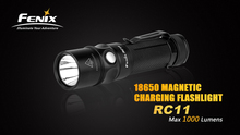 2016 New Fenix RC11 Cree XM-L2 U2 LED 1000 Lumens 18650/CR123A magnetic charging flashlight have 2600mah battery free shipping(China)
