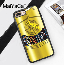 Star Wars C3PO Jedi Robot Sidekick  Soft TPU Skin Mobile Phone Cases OEM For iPhone 6 6S Plus 7 7 Plus 5 5S 5C SE 4S Back Cover