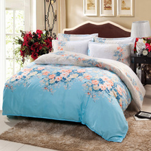 Blue print pattern Home Textiles  bedding 4Pcs pillowcases quilt cover bed sheet duvet cover bedspread comfortable  and healthy