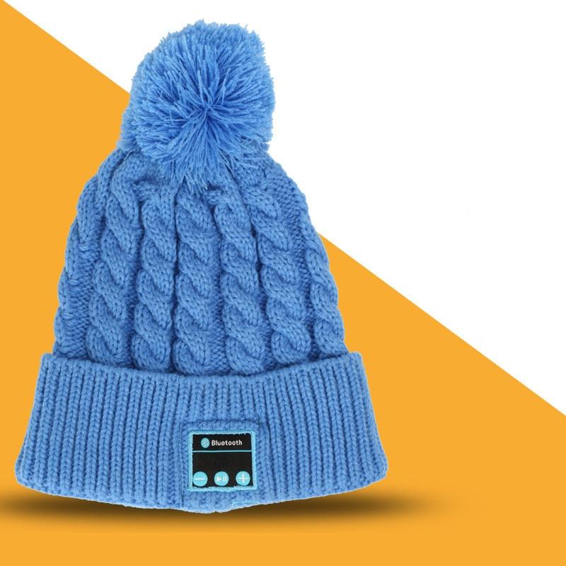 DOITOP Bluetooth Headphone Knitted Woolen Hat Wireless Music Earphone Speaker Headset Mic Winter Outdoor Sport Music Warm Hat #3