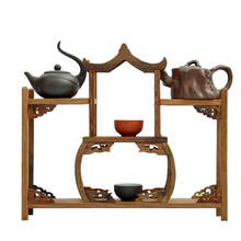 Ming and Qing furniture mahogany wings antique wooden pavilion curio shelf Shelf jewelry swing frame factory direct