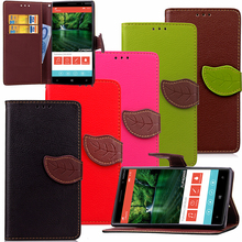 PU Leather Leaf Wallet Flip Cover TPU Stand Case for Microsoft Nokia Lumia 930 830 730 630 530 535 625 925 with screen film pen(China)