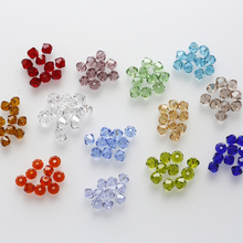 4mm 100pcs AAA Bicone jewelry crystal beads loose Glass Beads for Jewelry Making DIY Bracelet Necklace accessories TOP Quality