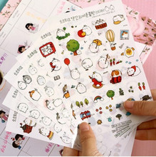 6 SheetsBook Sticker Rabbit Diary Scrapbook Calendar Notebook Label Decoration Baby Best Gift Photo Album Diary Sticky Notes