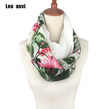Hot Sale Warm Women Flower Loop Scarf Female Small Rose Print Chevron Ring Scarves Winter Plants Infinity Shawl and Wrap retro(China)