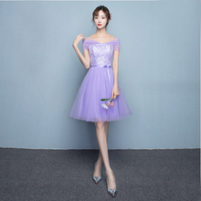 robe de mariage short strapless bridesmaid dresses under 50 elegant tiers tulle dress lilac formal party ball gown girl X4025
