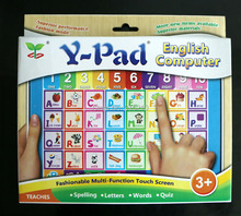 Y Pad  English computer educational toys for children,Ypad learning machine kids tablet Gift  with pink and blue 2 colours mixed
