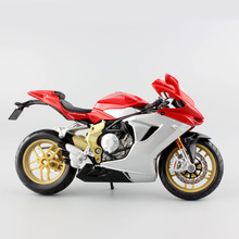 1:12 Mini MV Agusta F3 serie oro metal die cast models motorcycle race car golden edition moto miniature collectible for kids