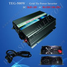 500W 10.8V-28VDC to 100V/110V/120V/220V/230V/240VAC On Grid Solar Inverter