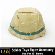 "1:6 Scale WWII German Soldier Army M35 Plastic HELMET with Shade For 12"" Military Action Figure Toys Accessories"
