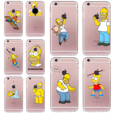 2018 Homer Case for iphone 5 5s SE 6 6s 7 8 Simpson Funny Bag Cheap Cover Soft TPU Silicone Transparent Fundas Ultra-thin Coque(China)