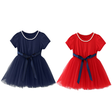 Top Quality Toddler Baby Girls Dress Sequins Tulle Party Gown Formal Dresses 1/4 Sleeve Length Sundress For Children Girls(China)