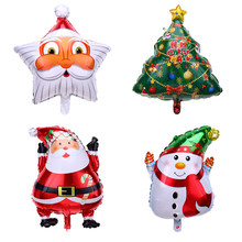 Santa Claus Snowman Helium Foil Balloon Christmas Tree Ball Aluminum Balloons Inflatable Birthday Wedding Party Xmas Decoration