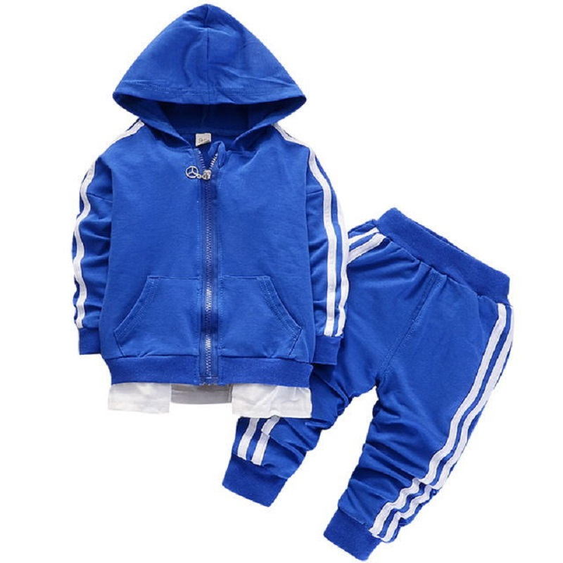 Fashion Spring Autumn Baby Boys Girls Cotton Sport set Jacket+pants 2pcs/sets Boys Tracksuit Baby Clothing Set Baby Set
