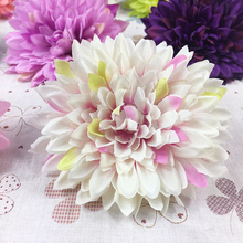 10pcs 8.5cm Custom Goods Plastic Flower Chrysanthemum Christmas Decoration Flowers Decorate Party(China)